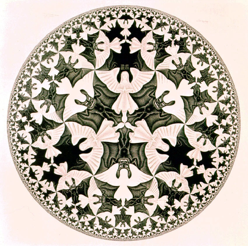 Angels & Devils by M.C. Escher